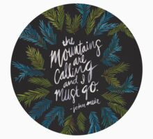 Mountains Calling – Charcoal T-Shirt