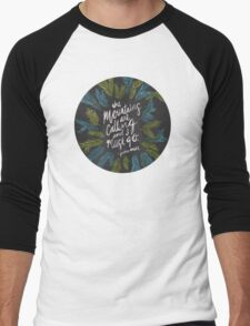 Mountains Calling – Charcoal Men's Baseball ¾ T-Shirt