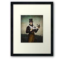 Man with Birds Framed Print