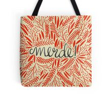 Pardon My French – Red & Cream Tote Bag