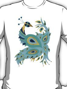 Blue & Gold Peacock T-Shirt