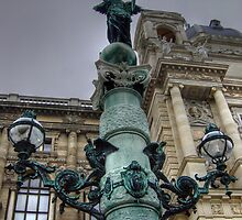 Statue at Hofburg, Vienna, Austria by daynov