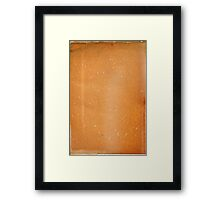 grunge page of paper  Framed Print