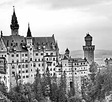 Neuschwanstein Castle in Bavaria Germany (side View) by LeahsPhotos