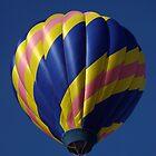Blue hot air balloon by Luann wilslef