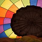 Hot air balloon ready for take off by Luann wilslef