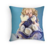 Doll and Friend Throw Pillow