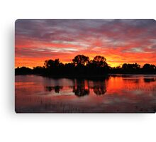 Sunrise Island Newy reservoir Cobar NSW Canvas Print