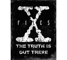 X-Files Grunge Photographic Print