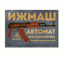 AK-47 (Blue) Art Print