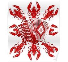 Cajun Music And Crawfish Poster