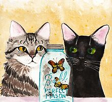 Butterfly Jar and Curious Cats by Ryan Conners