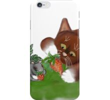 Strawberries for Mouse and Kitten iPhone Case/Skin