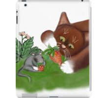 Strawberries for Mouse and Kitten iPad Case/Skin