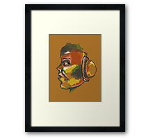 Colored Face Framed Print