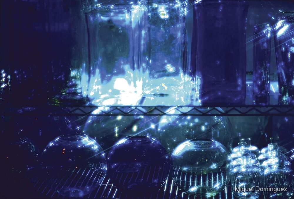 blue glass by Miguel Dominguez