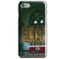 Altar and screen St Marys C18 church St Marys church Bergen Norway 198406130013 iPhone Case/Skin