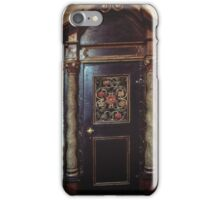 Door at side of nave St Mary's Bergen Norway 19840613 0017 iPhone Case/Skin