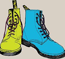 Doc Martins Boots by Matthew Broughton