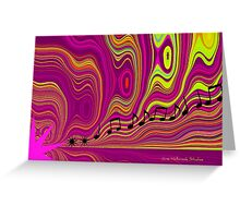 Abstract Waves Greeting Card