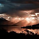 Sunset At Lake Te Anau. South Island, New Zealand. by Ralph de Zilva
