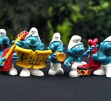 Musician Smurfs by Bev Pascoe