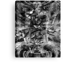 Black & White Brain Sphynix. Canvas Print