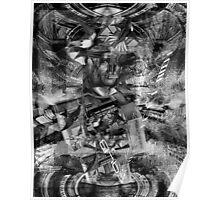 Black & White Brain Sphynix. Poster