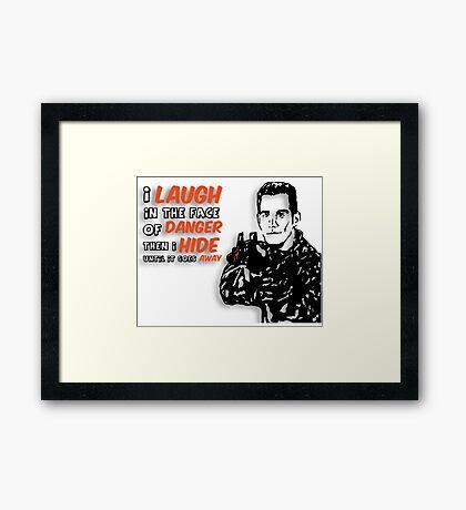 Xander the Brave Framed Print