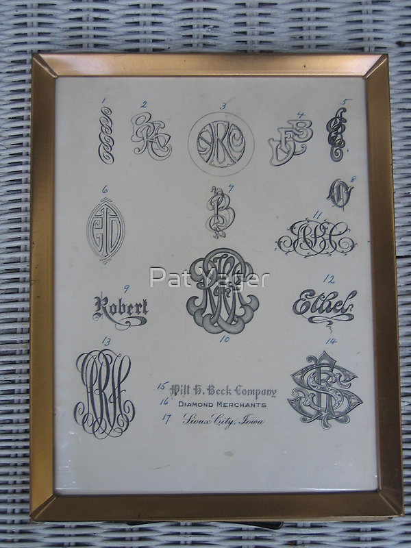 Grampa's Engraving Letters by Pat Yager