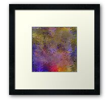 Decorative Abstract in Muted and Bright Colors Framed Print