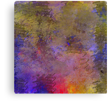 Decorative Abstract in Muted and Bright Colors Canvas Print