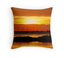photoj S.A. Sunset Salt-Lake Throw Pillow