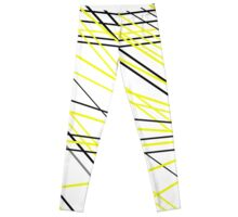 Abstract in yellow and black Leggings