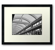 Inside Mall Framed Print