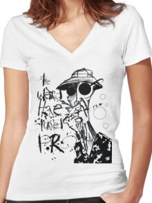 The Weird Have Turned Pro Women's Fitted V-Neck T-Shirt