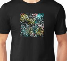 Abstract in Aqua, Yellow and Black Net Desgin Unisex T-Shirt