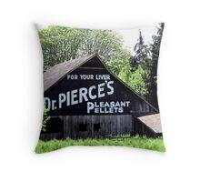 FOR YOUR LIVER  Dr. PIERCE'S  PLEASANT  PELLETS   Throw Pillow