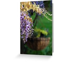 Whispering Wisteria Greeting Card