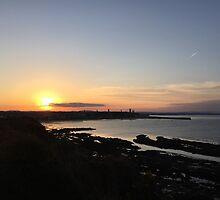 Sunset over St. Andrews, Scotland  by jonmiranda93