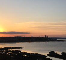 Sunset over St. Andrews, Scotland  Sticker