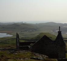 Church in Stoer, Scottish Highlands Sticker