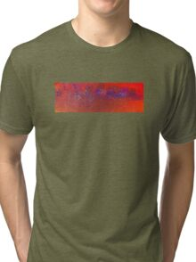 Abstract in Orange and Blue Tri-blend T-Shirt
