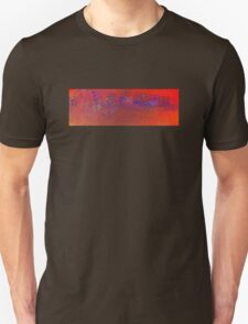 Abstract in Orange and Blue T-Shirt