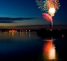 Evening Fireworks by Tim Ray