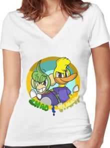 Chad & Jimmy Women's Fitted V-Neck T-Shirt