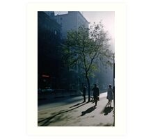 Early morning Collins Street 195701 Art Print