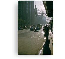 Looking east Collins Street early morning 19570100 0000 Canvas Print