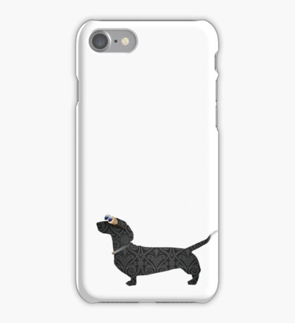 steampunk dachshund iPhone Case/Skin