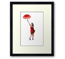 Dance of the Red Sunshine Framed Print